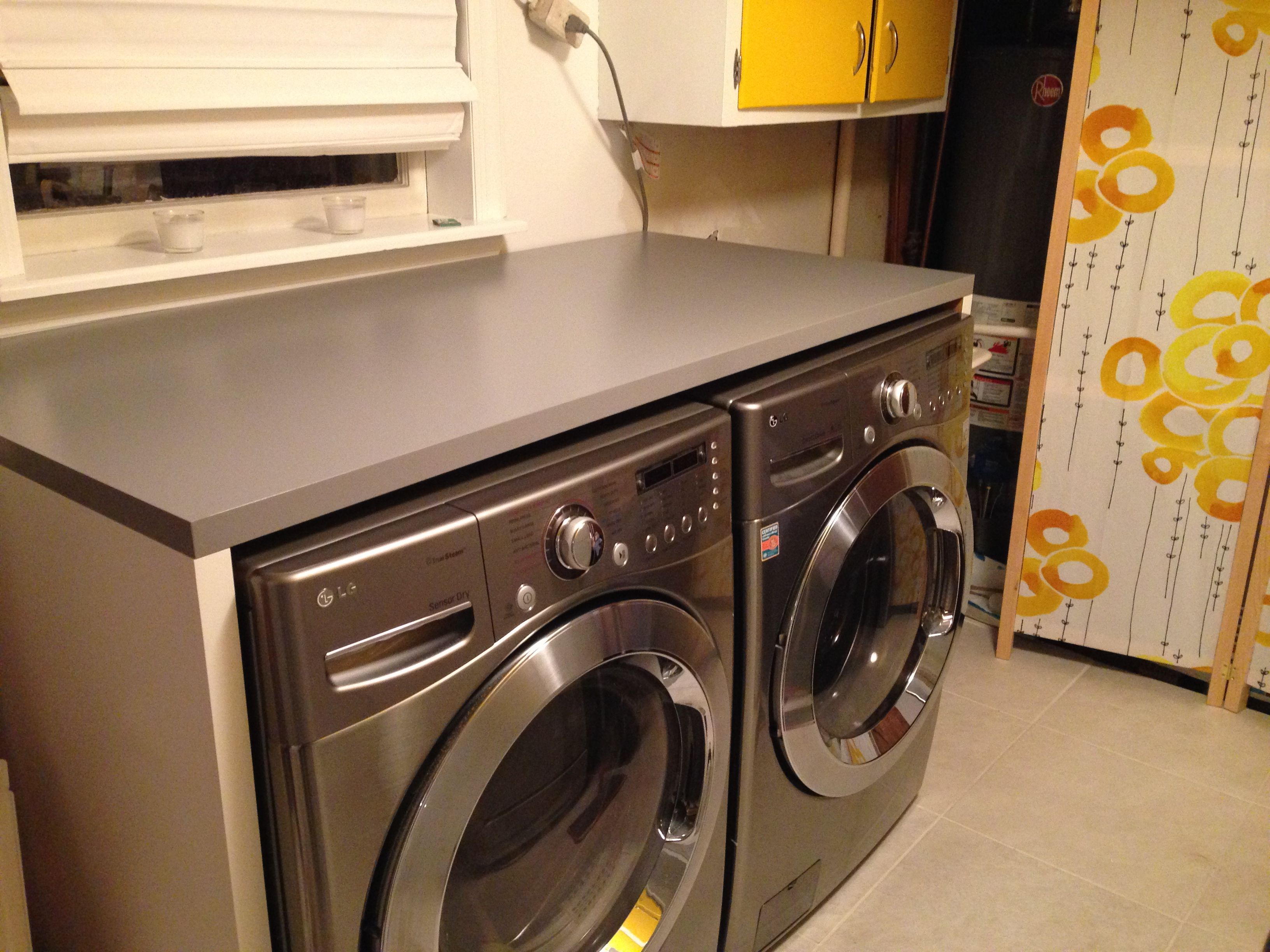 How To Install Ikea Countertops Ikea Linnmon Tabletops To Build Counter Around Washer And