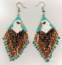 Tribute To The Eagle Seed Bead Earrings.   Inspiration ...