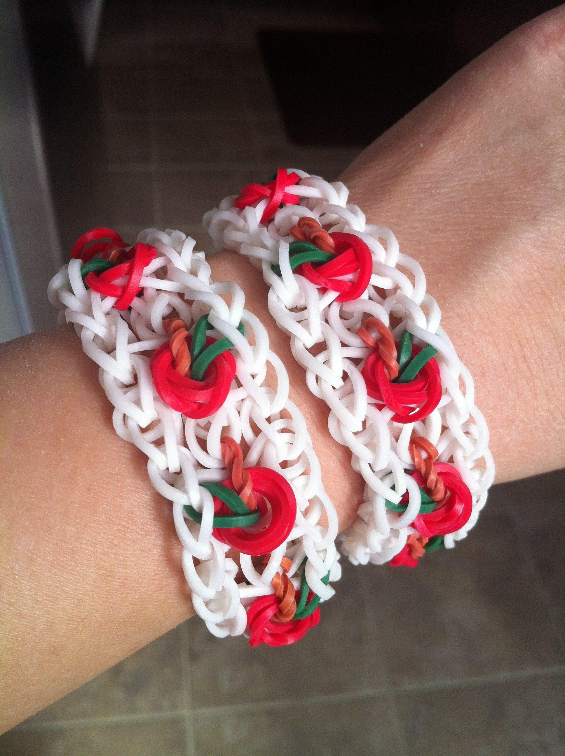 Cool Apple Cherry Tomato Rainbow Loom Bracelet Rainbow
