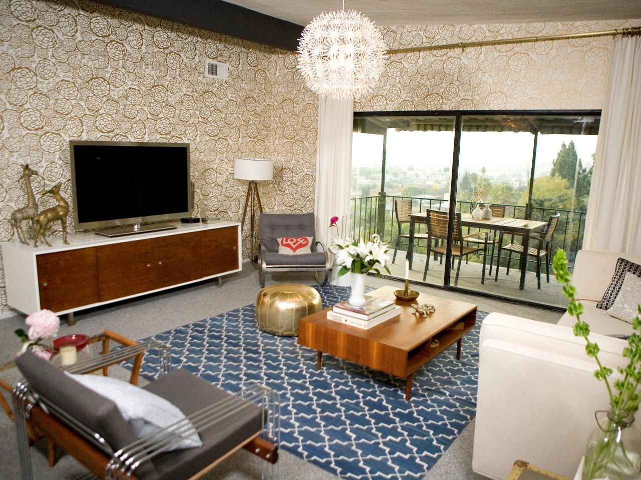 Wallpaper Designs For Living Room 21 Beautiful Mid Century Modern Living Room Ideas Gold