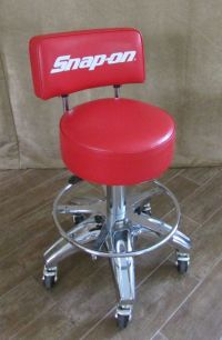 Snap On rolling stool back Red Chair tools shop man cave ...
