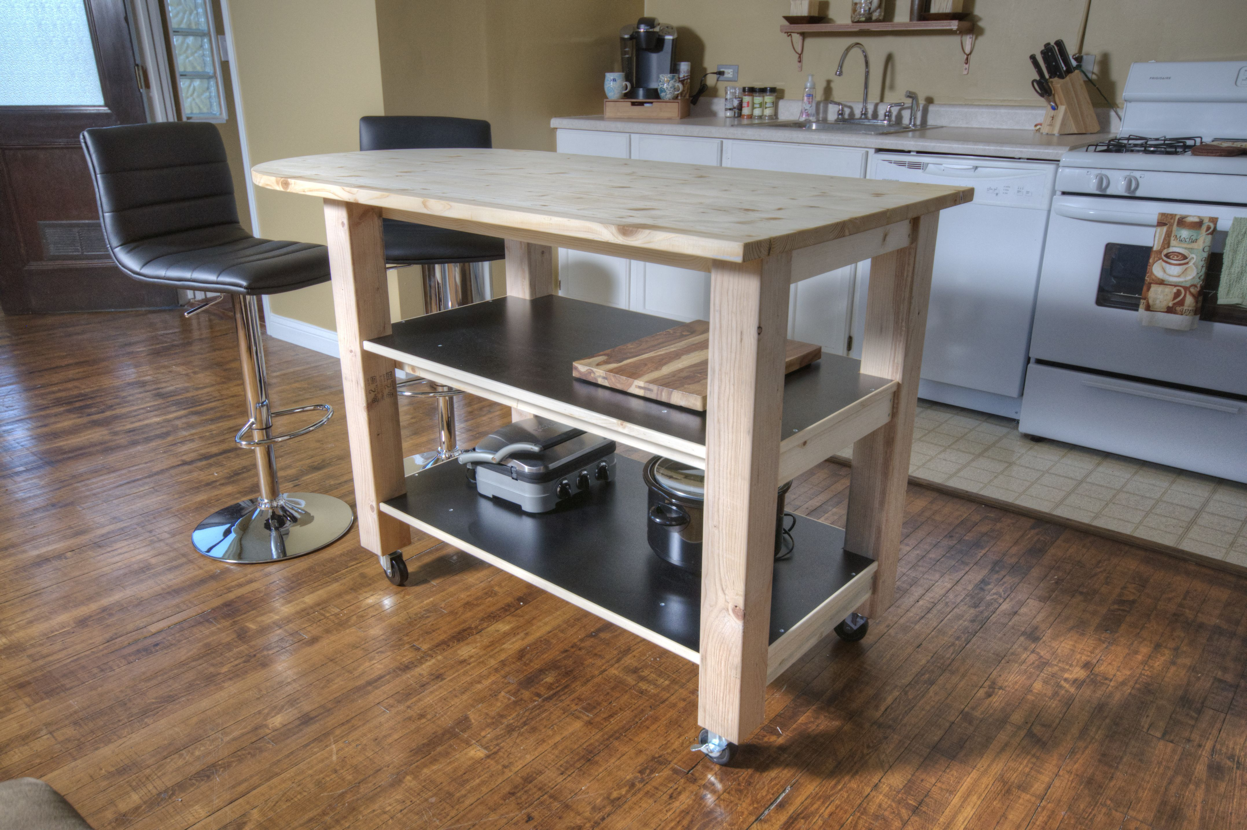 Movable Kitchen Islands Plans How To Build Diy Kitchen Island On Wheels Diy How To
