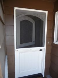 dutch doors | StowAway Arched Dutch Door Retractable ...