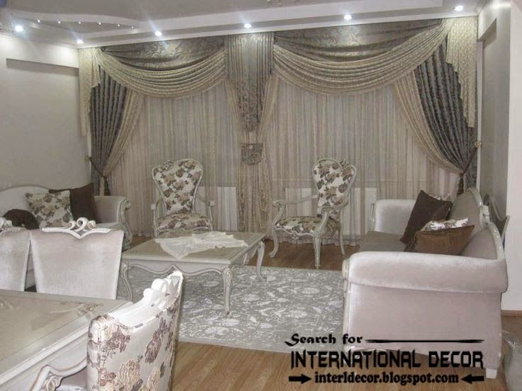 Stylish bedroom curtain and drapes romantic style Curtain - luxury curtains for living room