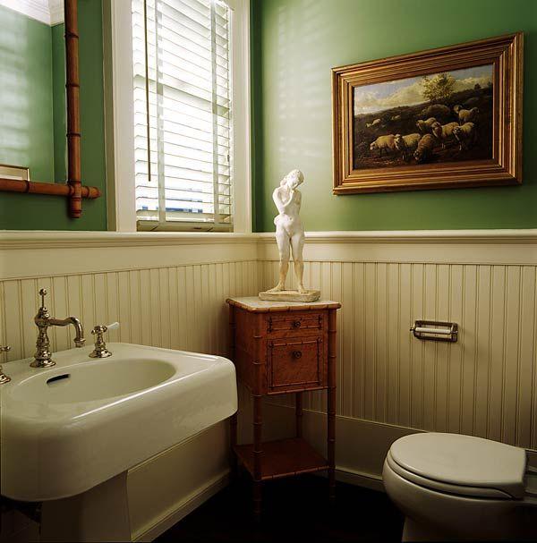 Get a Cottage Look with Beadboard Paneling Wainscoting, Bathroom - beadboard bathroom ideas