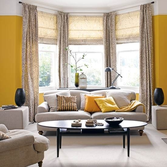 How To Decorate A Bay Window Delectable Of Bay Window Living Room - living room windows