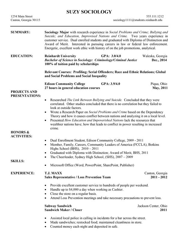 Sample Resumes University Career Services 3 - http\/\/wwwjobresume - example of a chronological resume