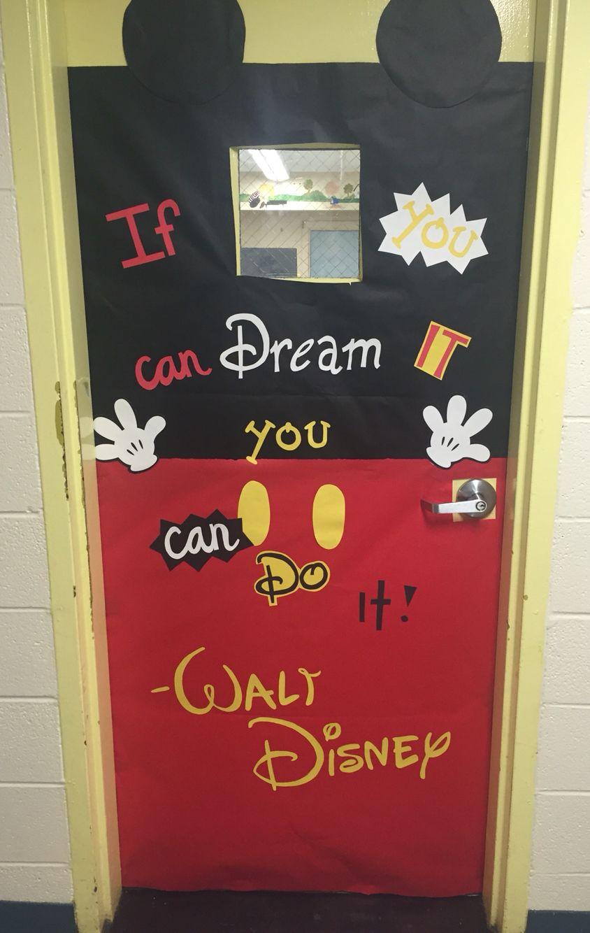 Mickey Mouse classroom door