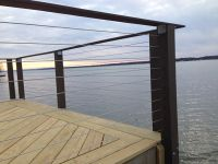 Lake House in Cayuga, NY has a new deck and cable railing