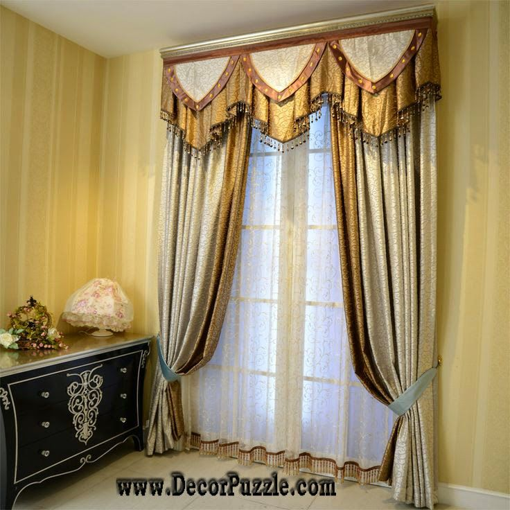 luxury classic curtains designs and valance for stylish