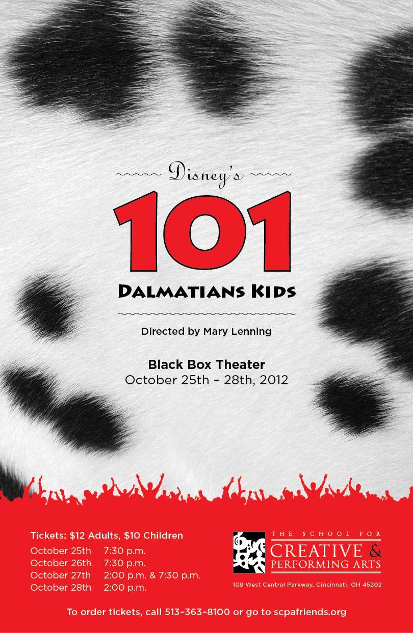 101 dalmatians kids show poster design
