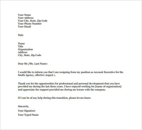 Image result for resignation letter examples Work related - examples of resignation letters
