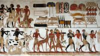 Egyptian Wall Painting Of Temple Of Beit El-wali | Ancient ...
