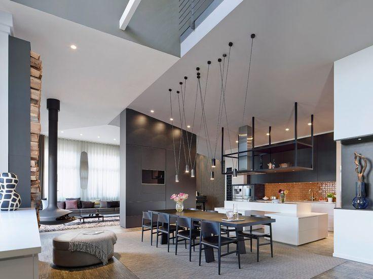 Bildergebnis für esszimmer lampe für hohe decken Wohnen - 20 ideen kuchen planung renomierten herstellern