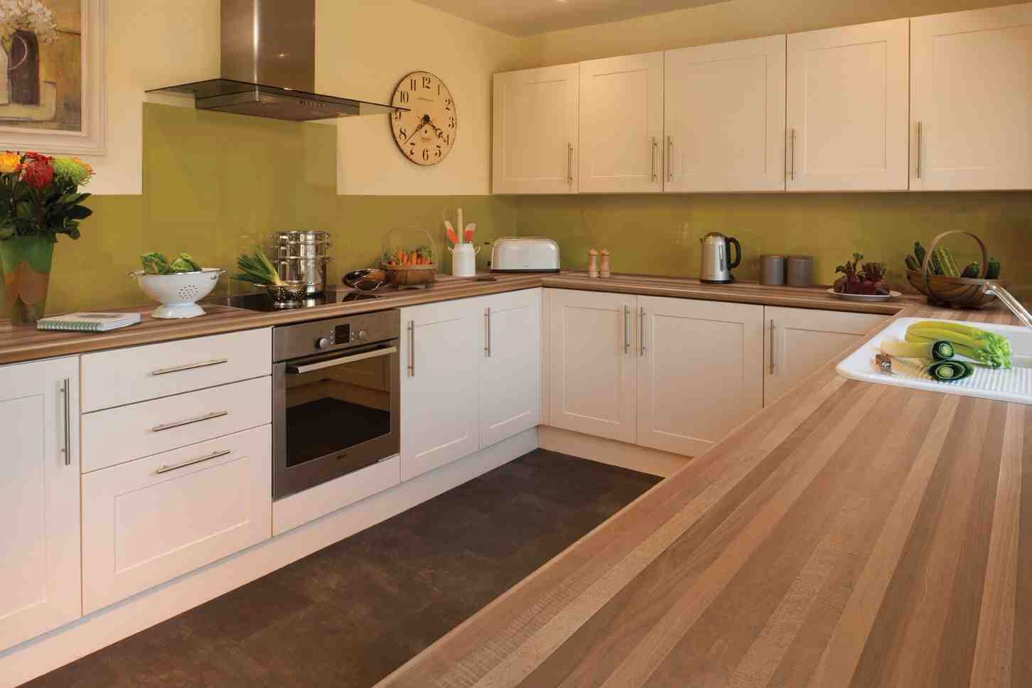 Cream Kitchen Design Kitchen Design Walnut Worktop Shaker Cream Gloss Ideas