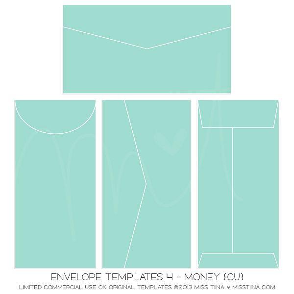 Envelope Templates 4 - Money {CU} Money Pinterest Envelopes - sample money envelope template