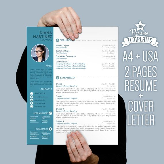 Resume Template Cover Letter 2 page CV A4 \ by TopResumeTemplates - professional cover letters