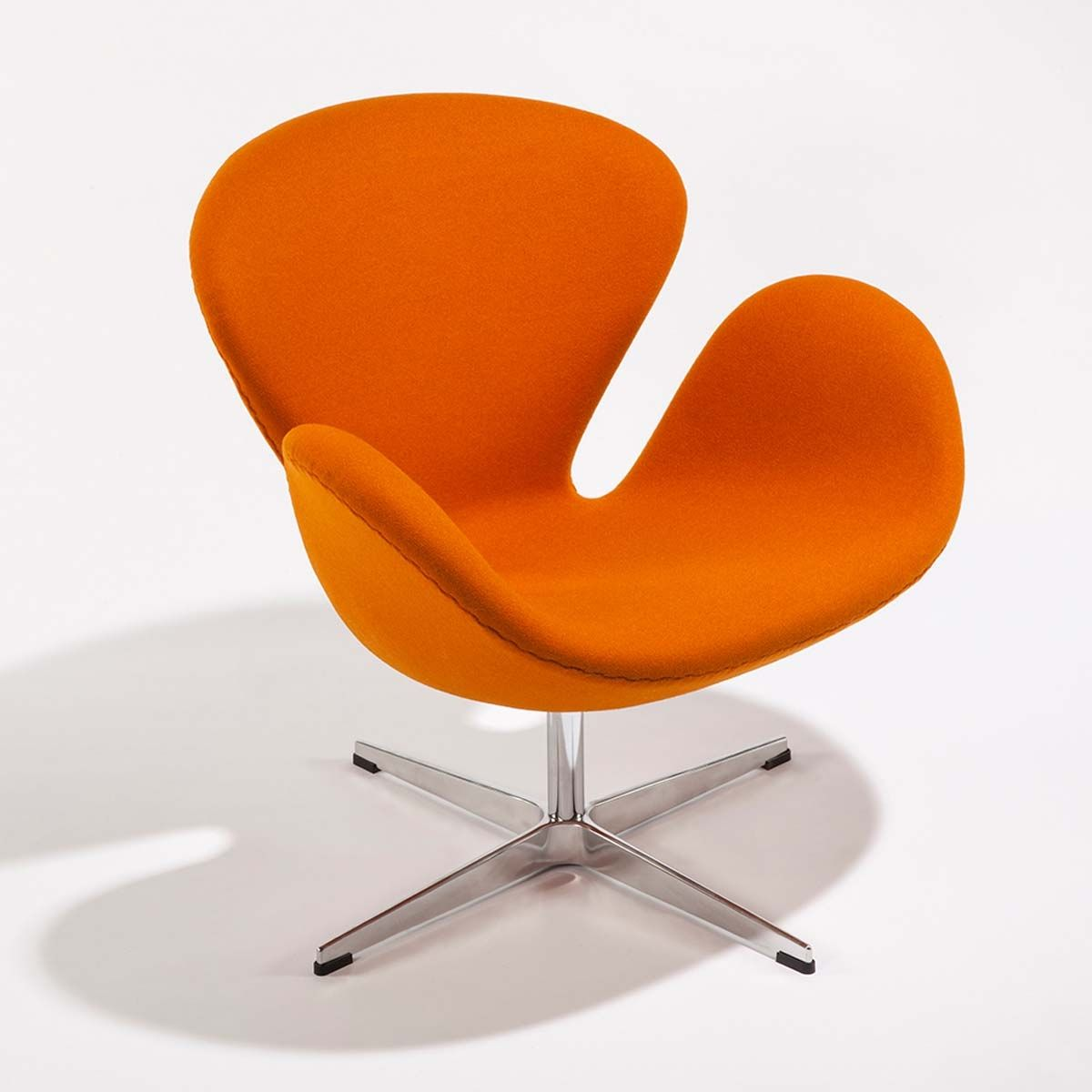 Orange Mid Century Modern Chair Arne Jacobsen Orange Swan Chair Mid Century Modern Arm