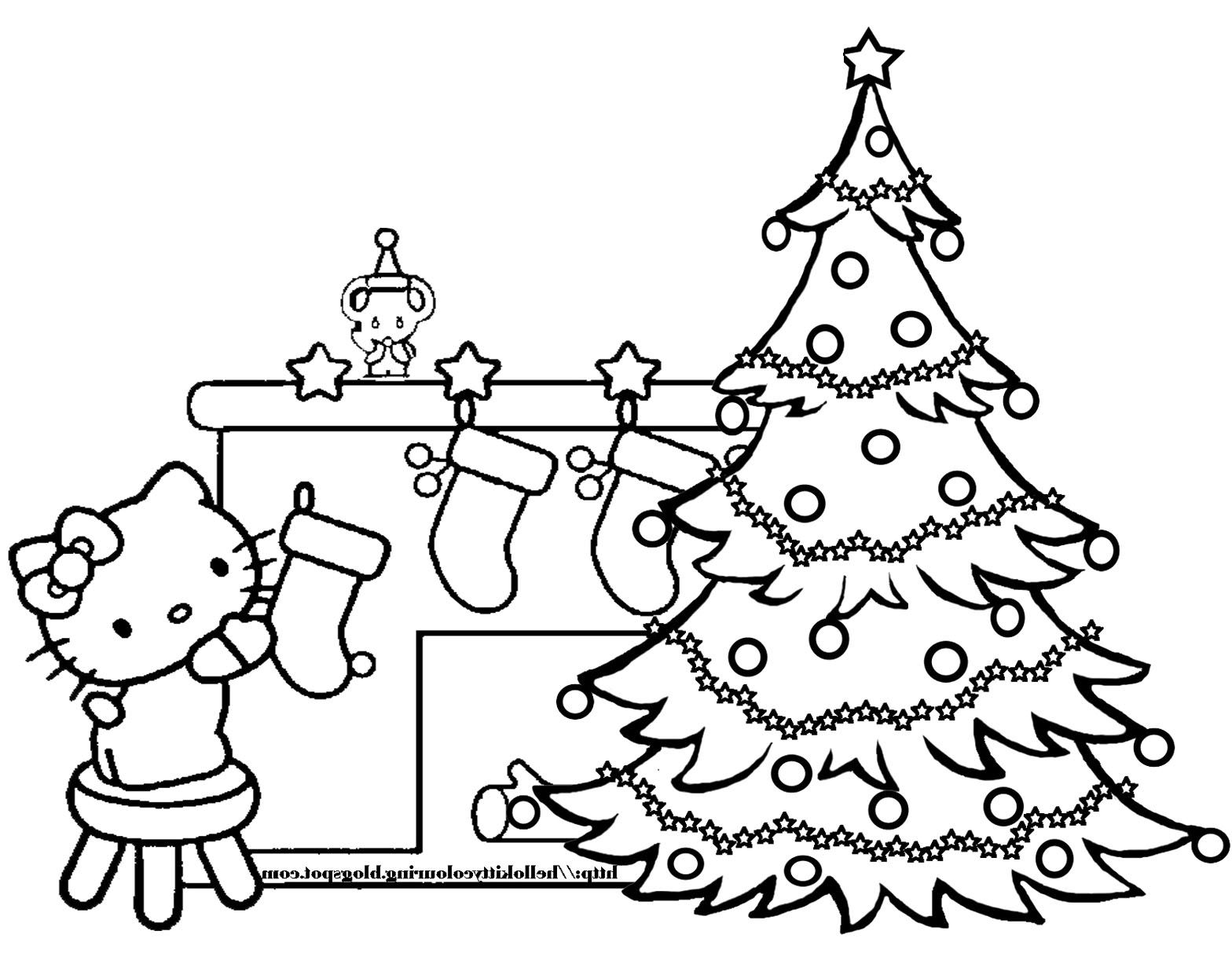 Free Printable Coloring Pages Hello Kitty Christmas
