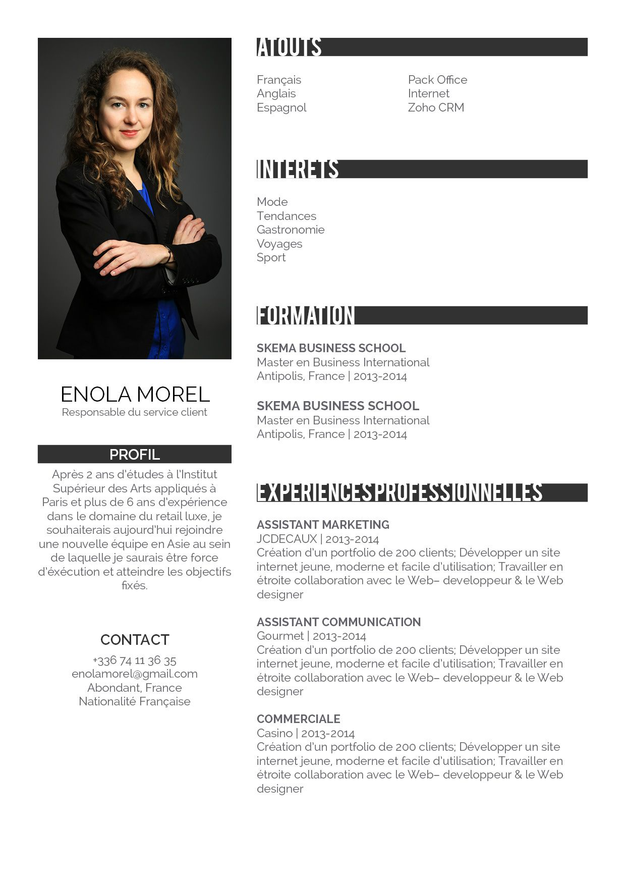 professionnel photo cv