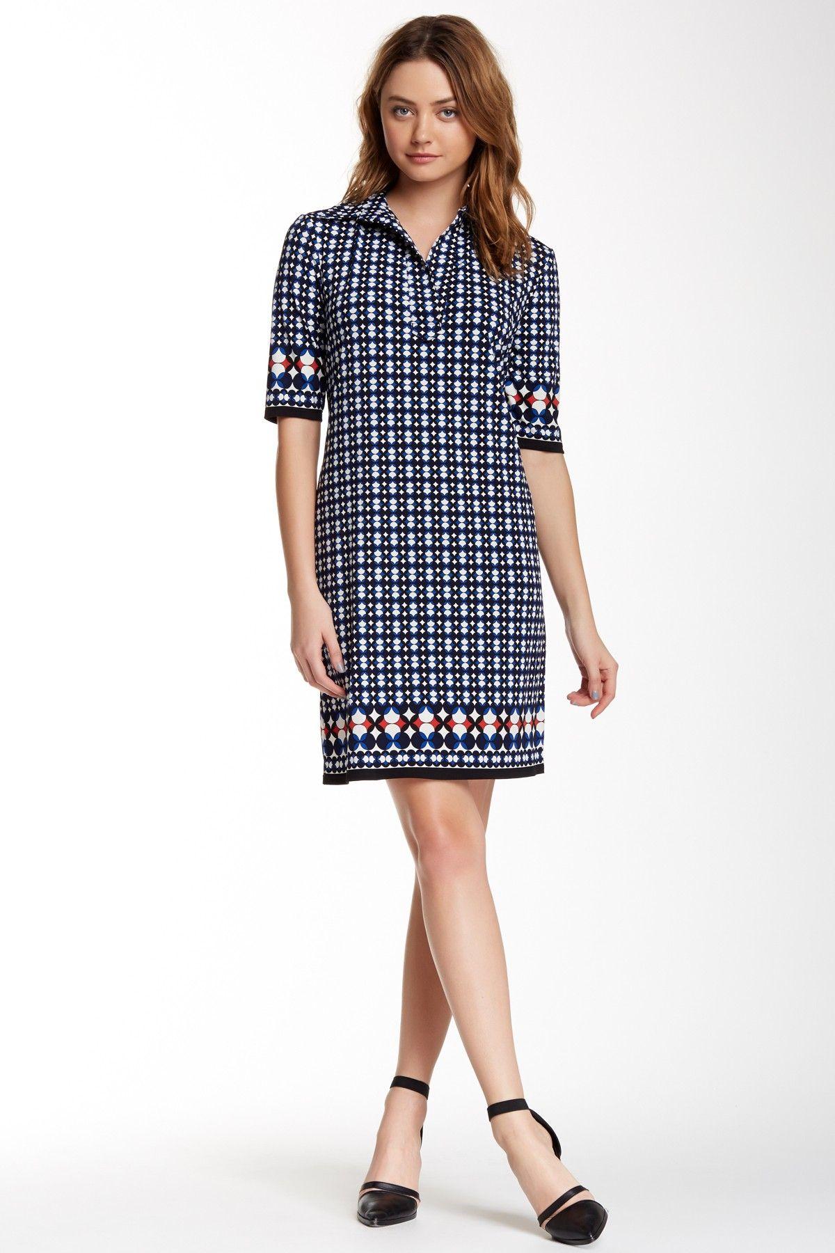 Max Studio Printed Shirt Dress Nordstrom Rack