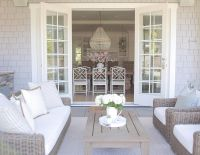 coastal style. Outdoor living. French doors . Patio design ...