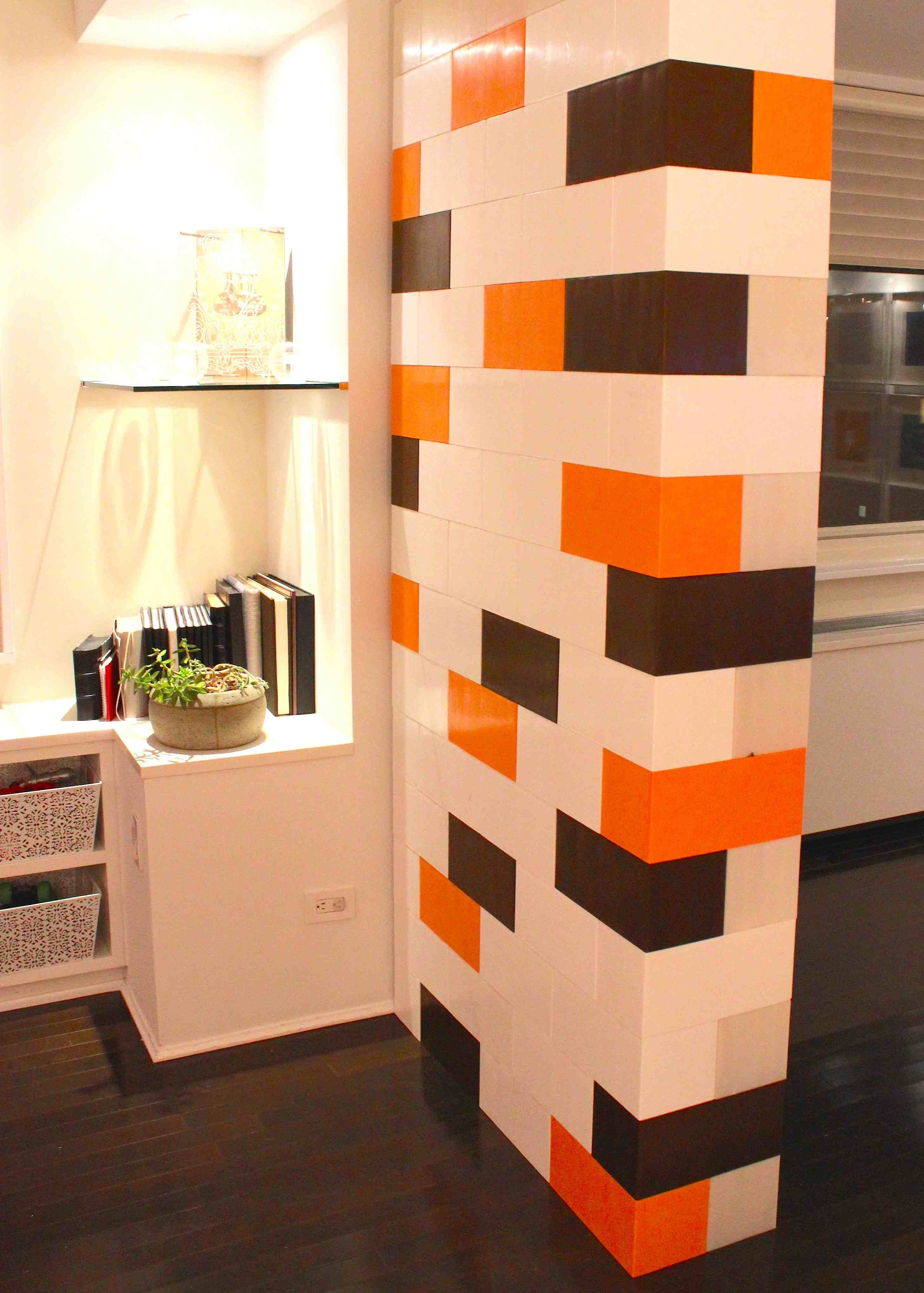 Modulare Wandsysteme Colorful Portable Wall For Dividing A Room With A Little