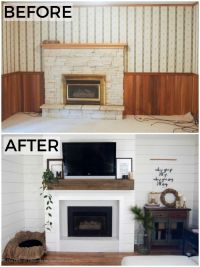 From dated wood paneling and wallpaper with a crumbling ...