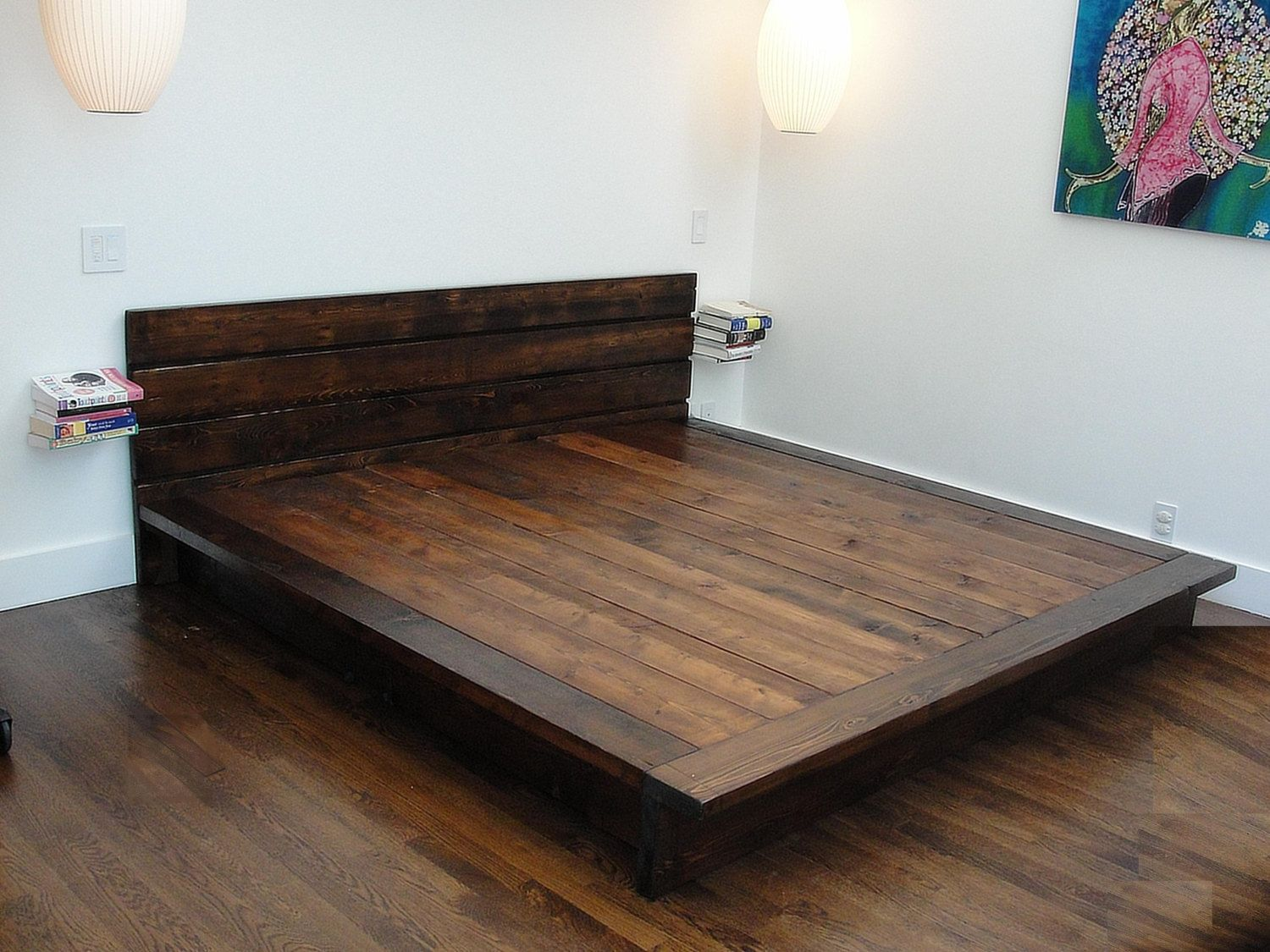 Modern Bed Designs Wood Reclaimed Wood Platform Bed Rustic Modern Bed By Wearemfeo
