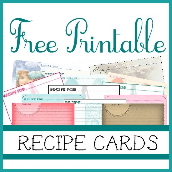 Free printable recipe cards Free Printables Pinterest - free recipe card templates for microsoft word