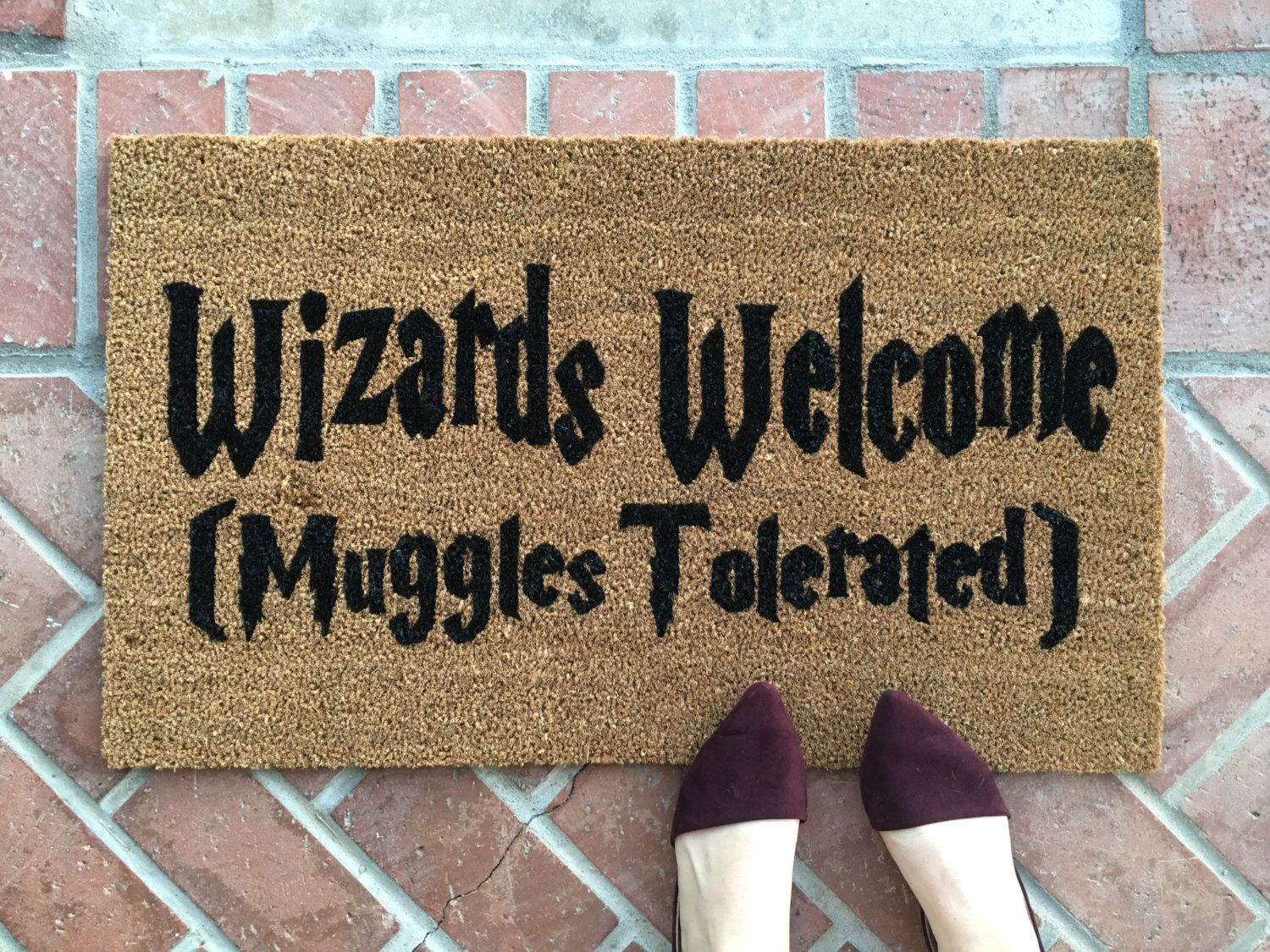 Doormat Funny Harry Potter Welcome Mat Handpainted Funny Doormat