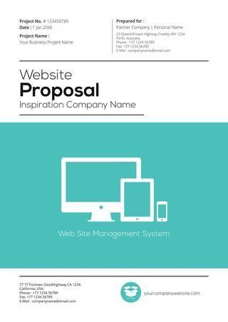 Gstudio Web Proposal Template V2(teal color) Website proposal - website proposal template