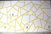 Geometric Triangle Wall Paint Design Idea with Tape ...