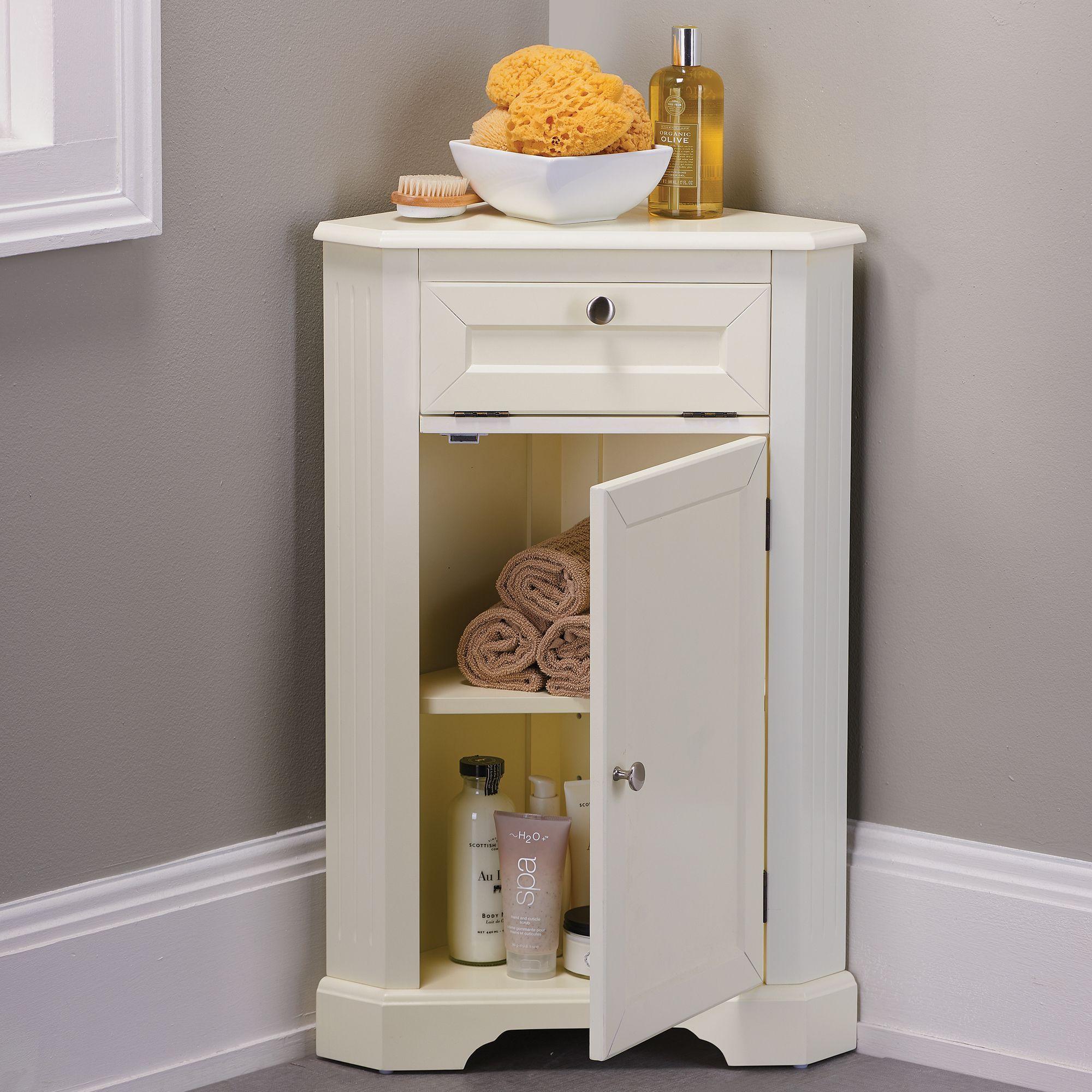 Weatherby Bathroom Corner Storage Cabinet