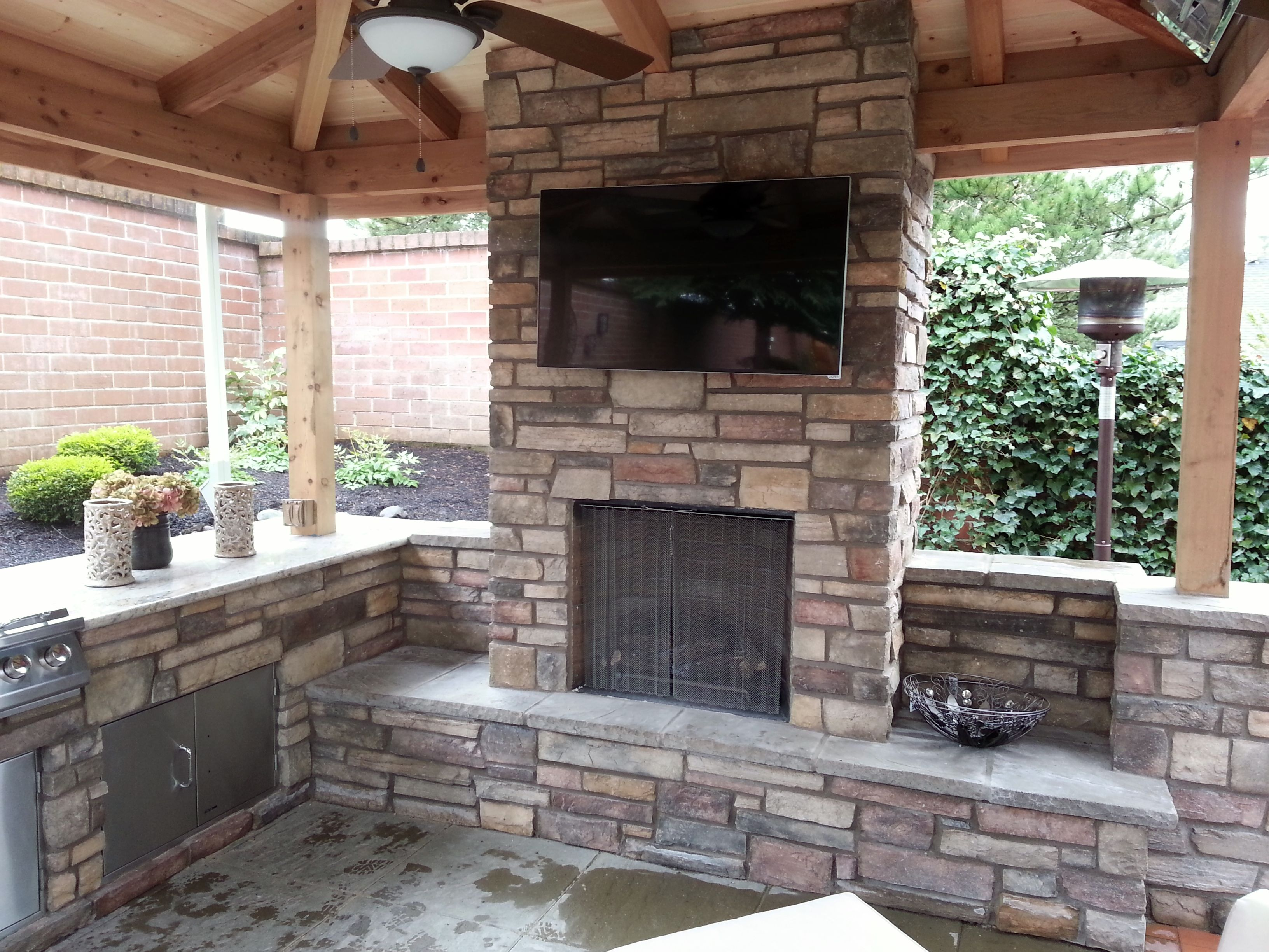 Fireplace And Patio Outdoor Fireplace Outdoor Living Outdoor Kitchen