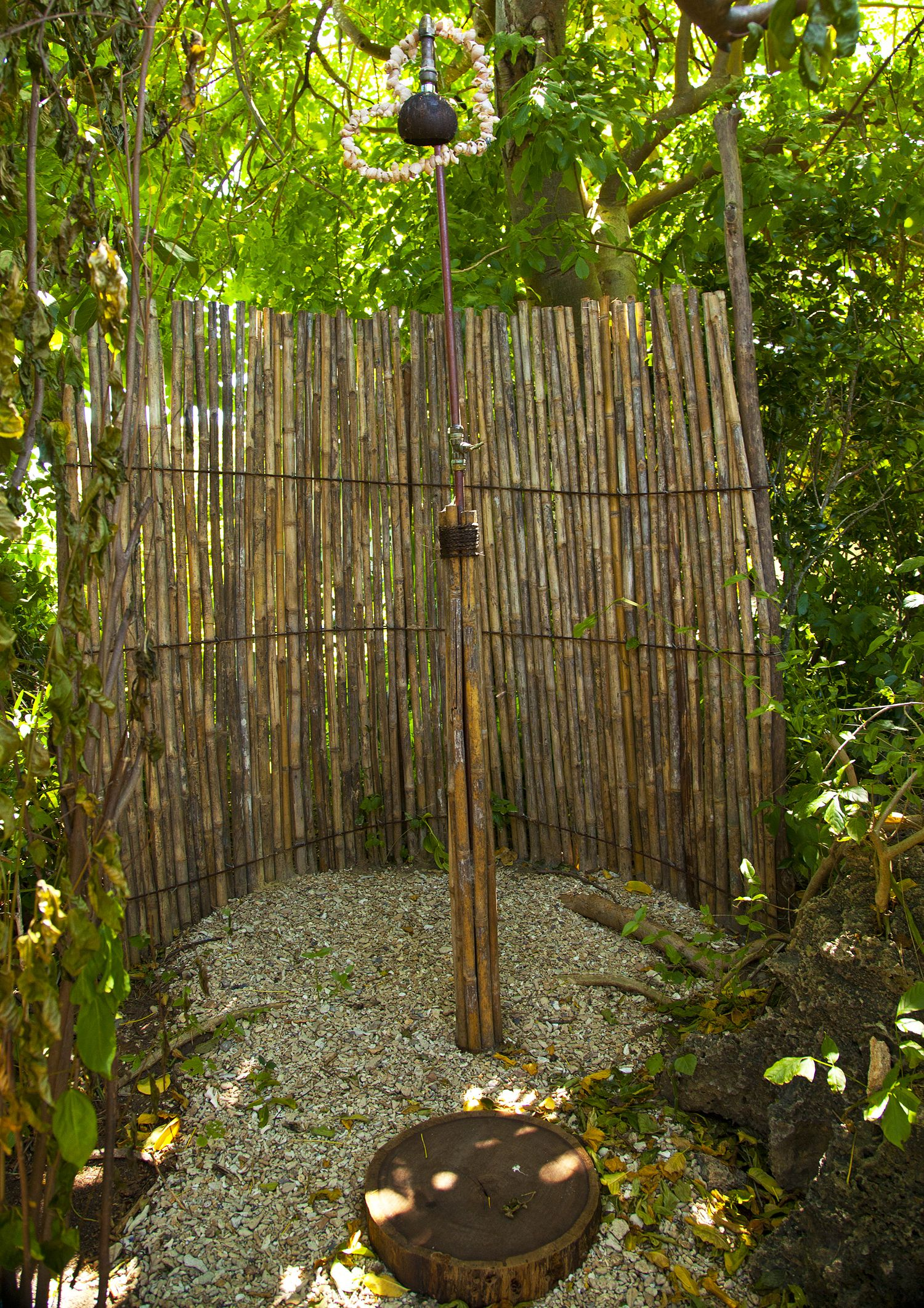 Outdoor Shower Base Ideas Bathroom Rustic Outdoor Shower Design With Bamboo