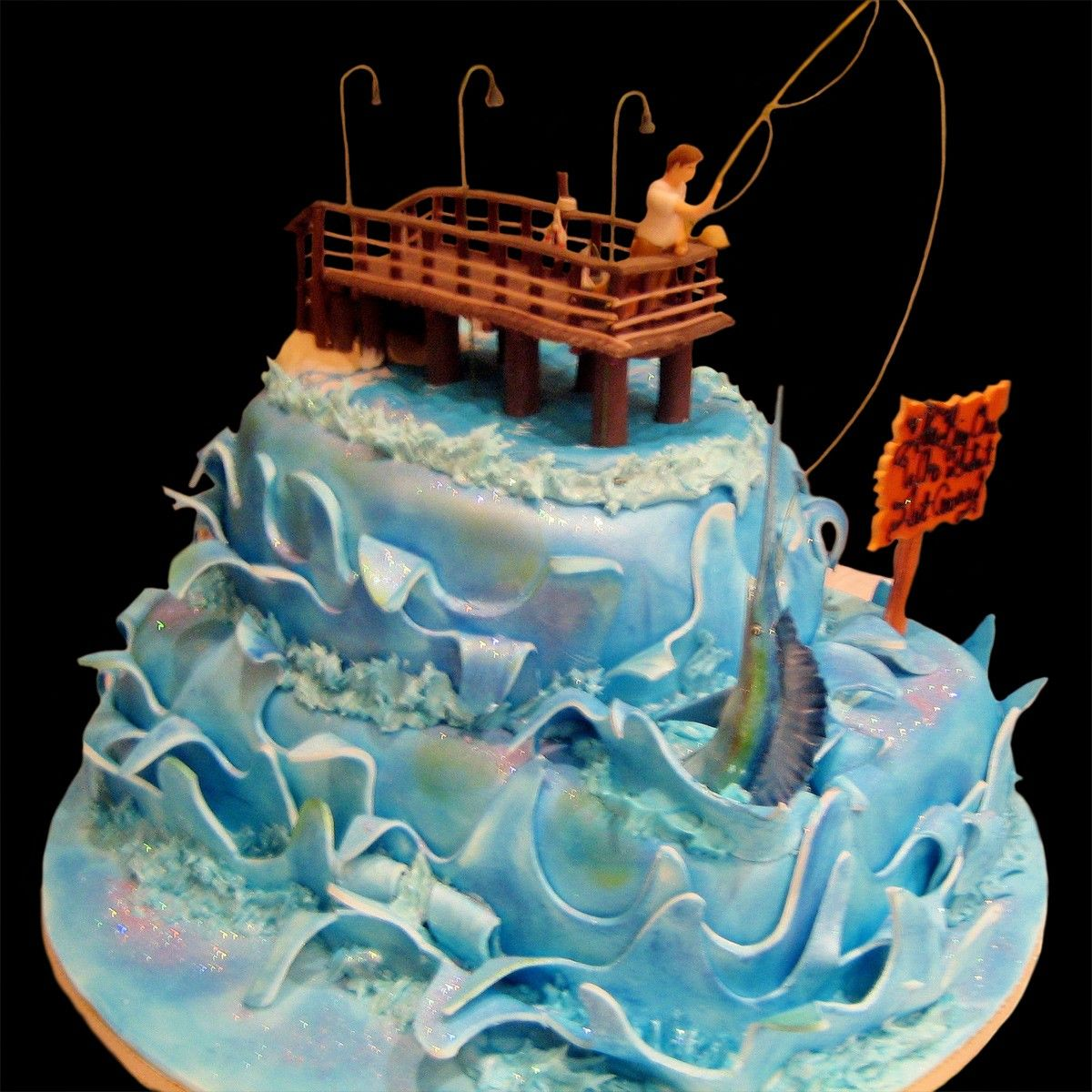 Grooms Cake Fishing Theme