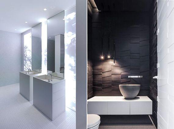 Moderne Und Kreative Lichtkonzepte Fürs Badezimmer_kleines Bad   Bad Design  Modern