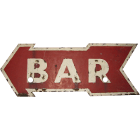 Vintage Ex Neon Tin Arrow Bar Sign | Vintage Advertising ...