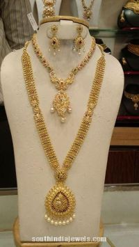 Gold Bridal Jewellery Set | Long Necklace Collections ...
