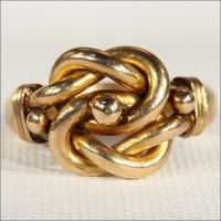 Antique Edwardian Mens Love Knot Ring in 18k Gold | Bijoux ...