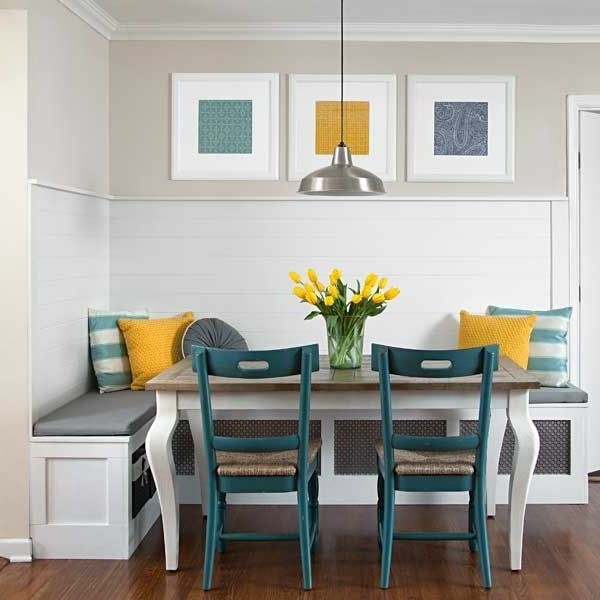 Esszimmer Eckbank+Stühle gelb blau Stühle Pinterest Room - eckbank esszimmer