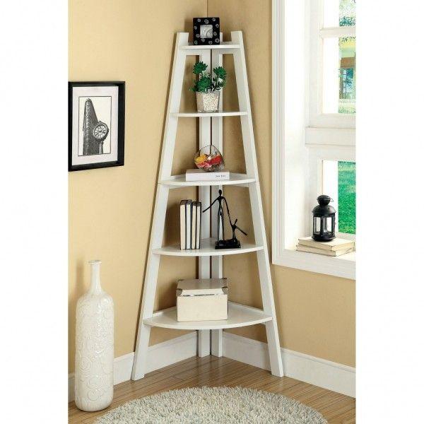 Creative corner storage solution House Ideas Pinterest - living room corner shelf
