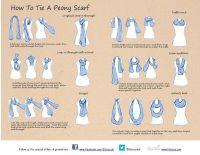 tie a scarf |  Hacks | Pinterest | Scarves, Scarf knots ...