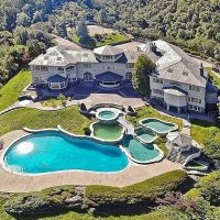 Aerial shot of an unbelievable backyard at this ginormous ...