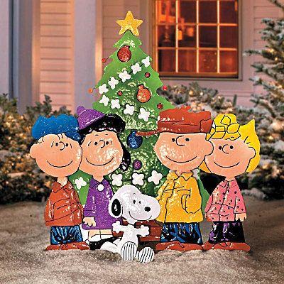 CHARLIE BROWN PEANUTS GANG Outdoor CHRISTMAS YARD ART DECOR NEW - peanuts outdoor christmas decorations