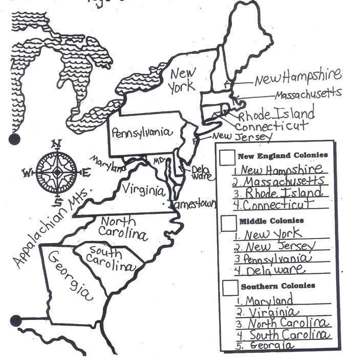 13 Colonies Coloring Page 13 Colonies Pinterest