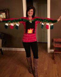 Human fireplace ugly Christmas sweater   Christmas ...