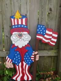 Uncle Sammy 4th of July Decor, Patriotic Wood Outdoor Yard ...