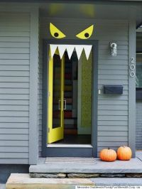 8 Fun Halloween Door Ideas | Monster door, Halloween door ...